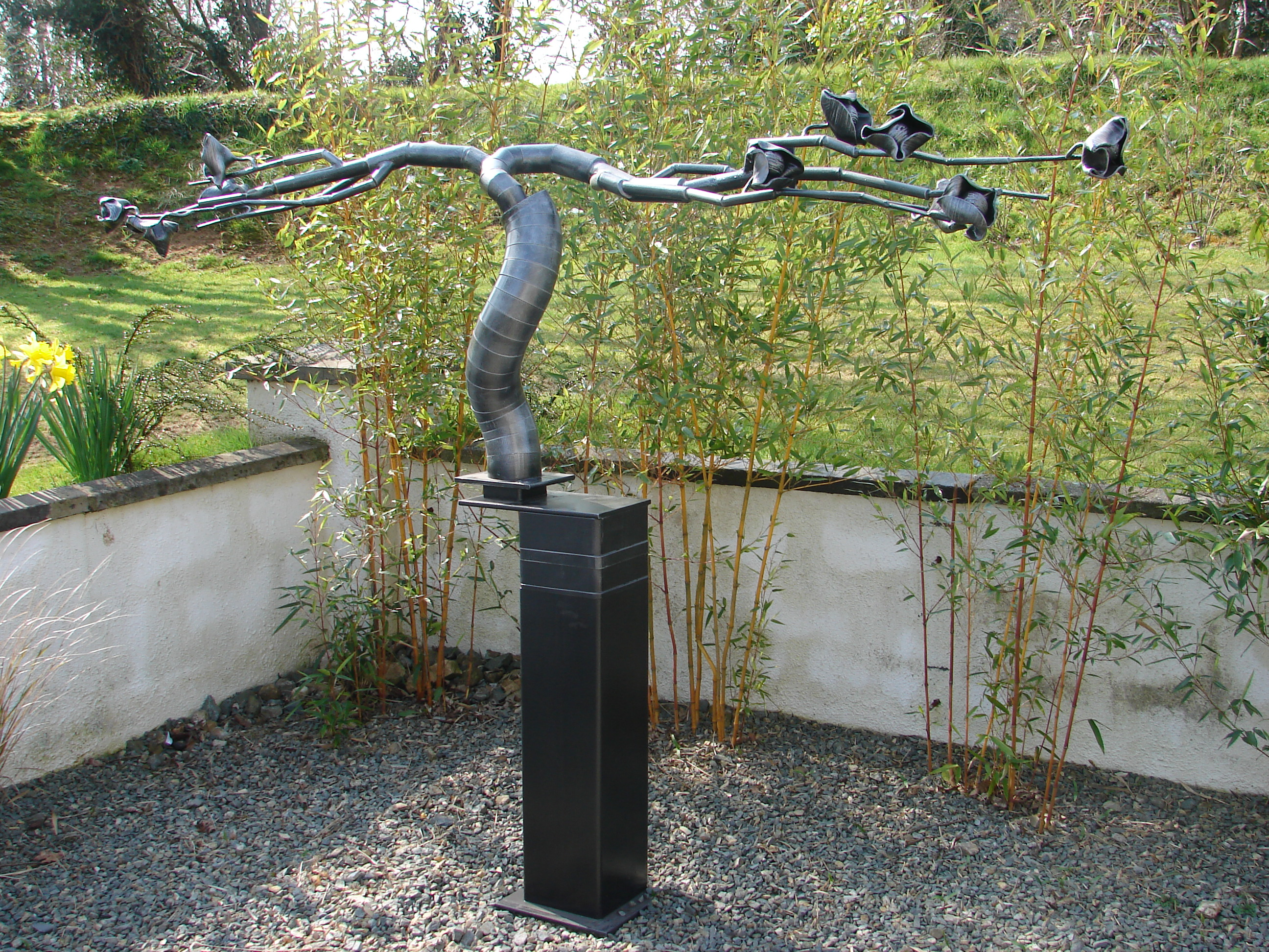Garden sculpture, galvanised iron