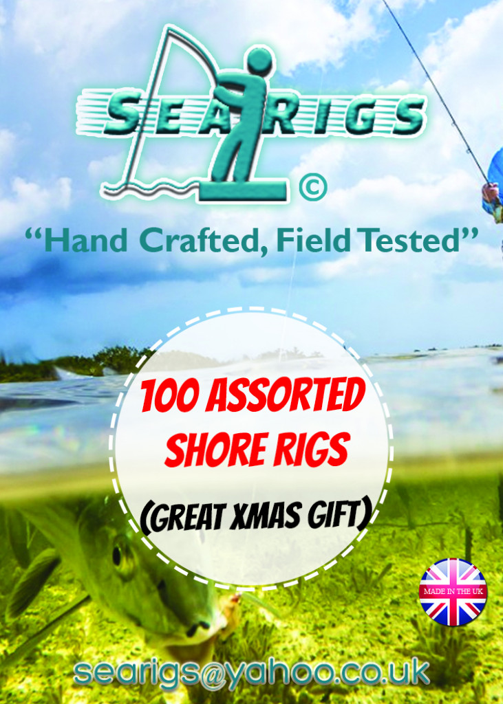 100 Assorted Shore Rigs (Xmas Pack)  x3 Free Rig Wallets