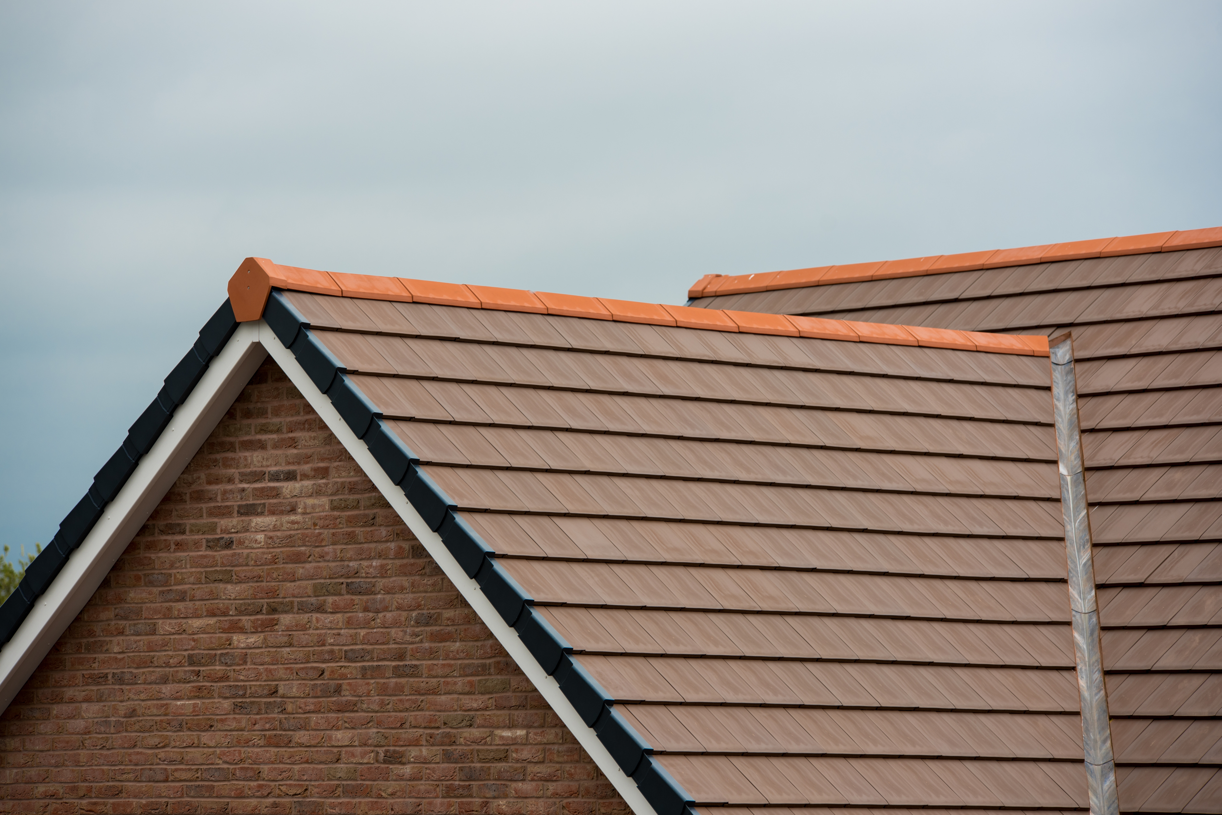 Galex Verea clay flat interlocking roof tile