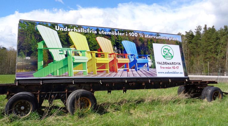 Banderoll och reklamvepor