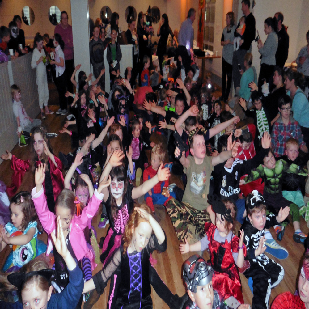Kids at a Disco Party