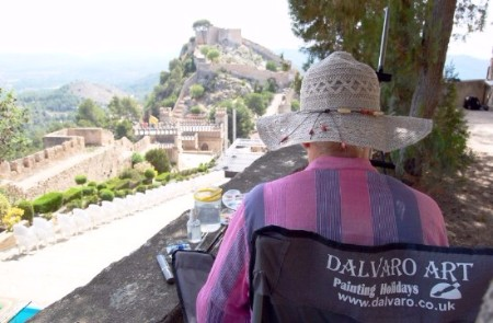 Xativa Castle painting with Dalvaro Art www.paintonholiday.com