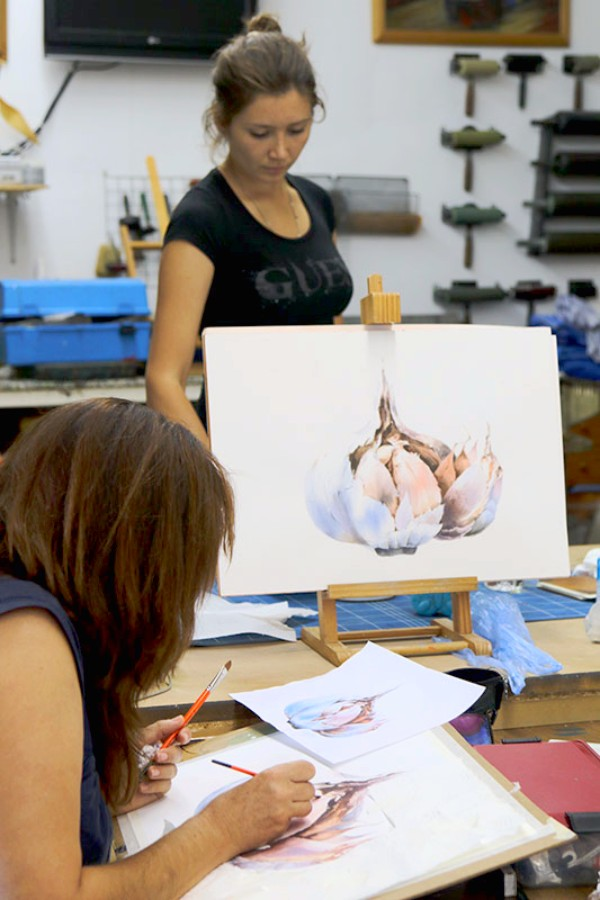 Ekaterina Ziuzina watercolour painting course at Dalvaro Art painting holidays