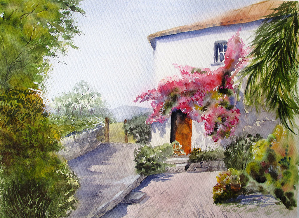 Anne Kerr pastel painting tutor at Dalvaro art workshop vacations Europe
