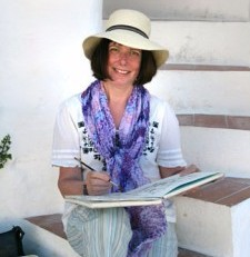 Sue Ford artist at Dalvaro Art retreat www.paintonholiday.com