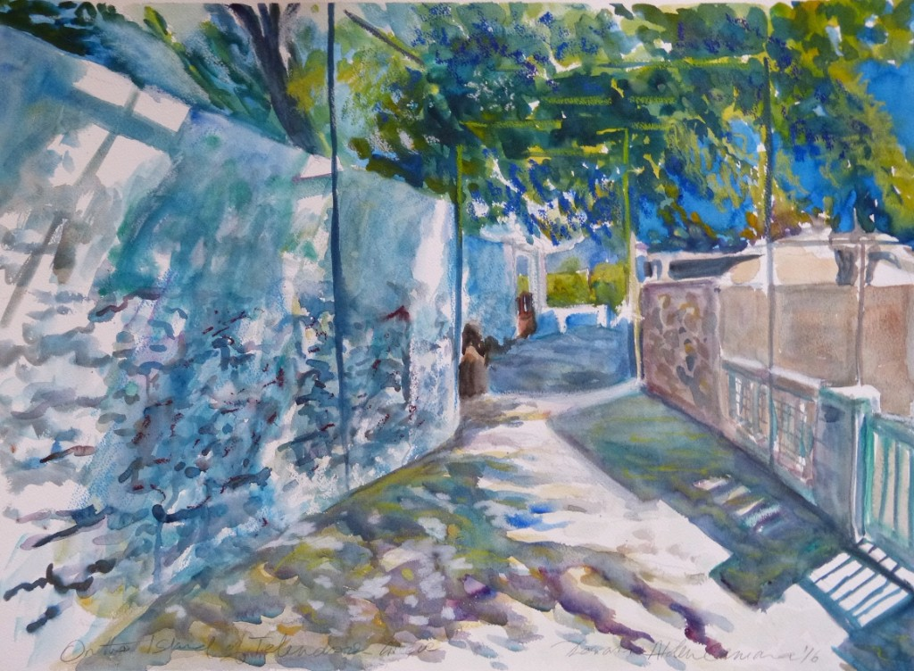 watercolour painting by Doranne Alden. www.dalvaro.co.uk