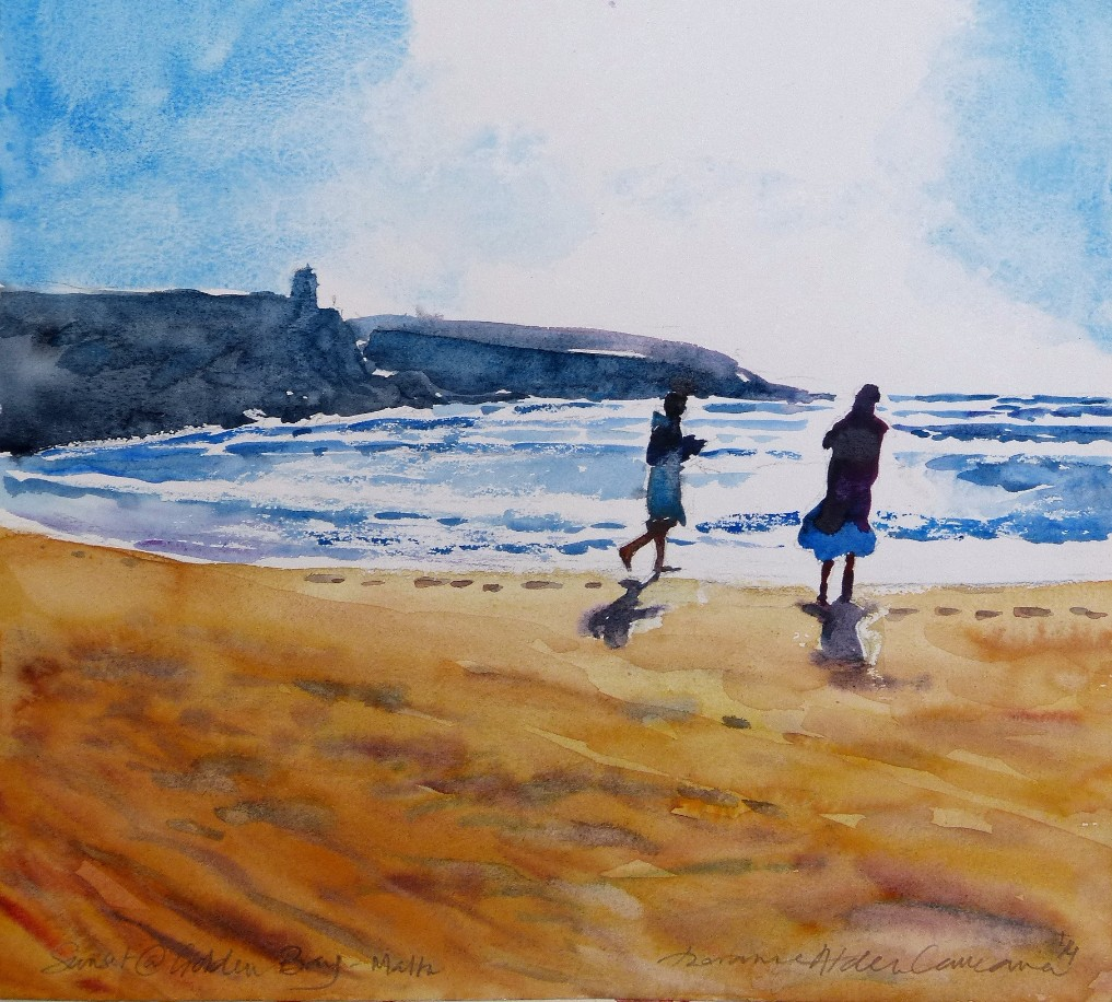 watercolour painting by Doranne Alden Paint on Holiday art tutor www.paintonholiday.com