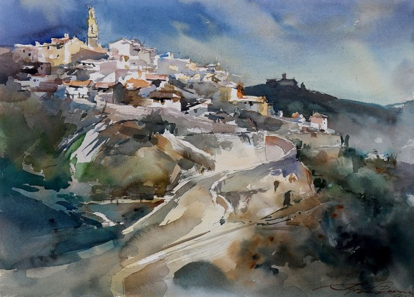 Igor Sava watercolor art tutor at Dalvaro workshop vacations Europe