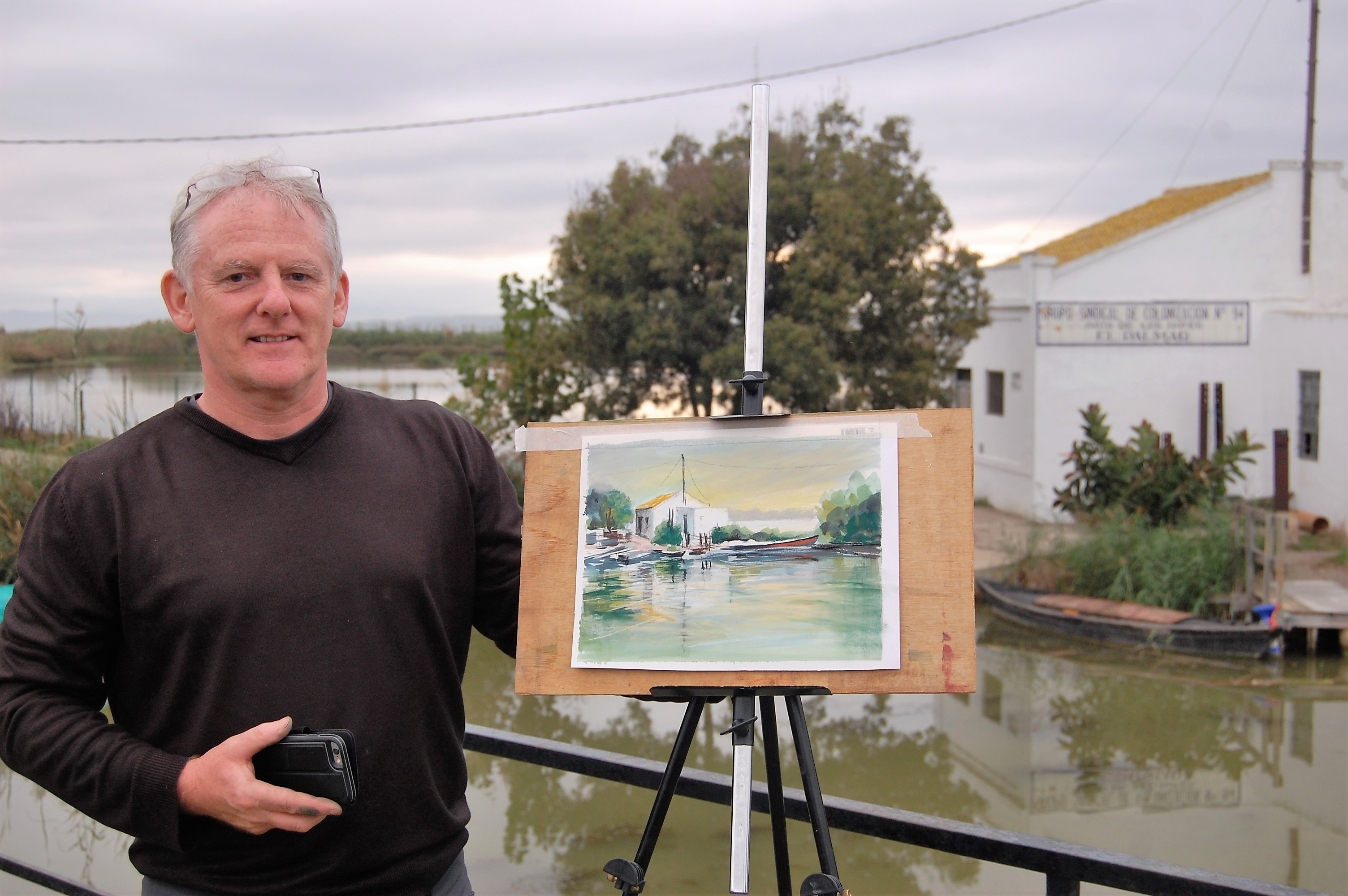 Les Darlow pastel artist Dalvaro art retreat europe