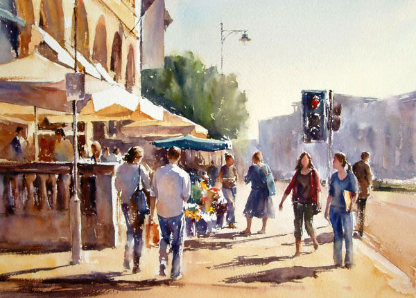 watercolor painting by Paul Weaver. Art tutor for Paint on Holidays Spain