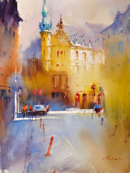 Viktoria Prischedko Slawa Prischedko watercolor painting tutor at Dalvaro art