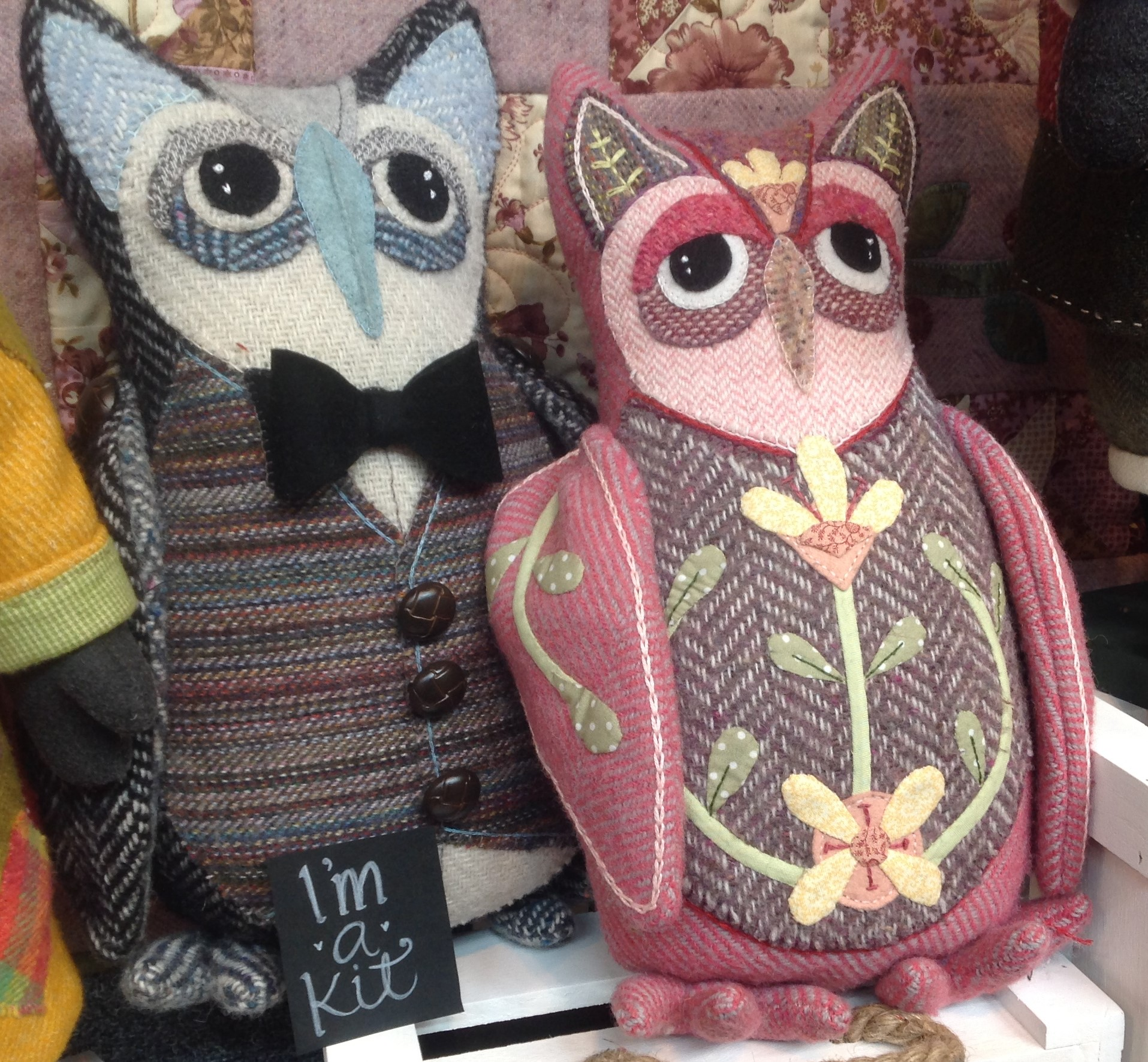 Donegal Tweed by Fabric Affair: Mabel the Owl Kit.