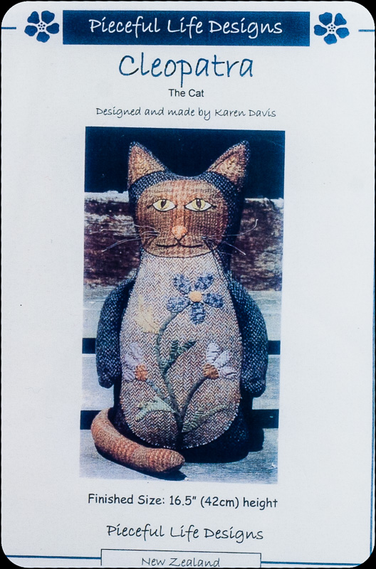 "Fabric Affair: ""Cleopatra the Cat  Patterns""."