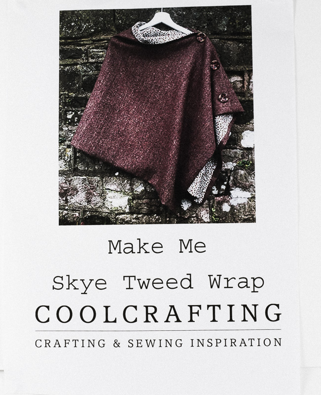Donegal Tweed by Fabric Affair - Make Me Skye Tweed Wrap Pattern