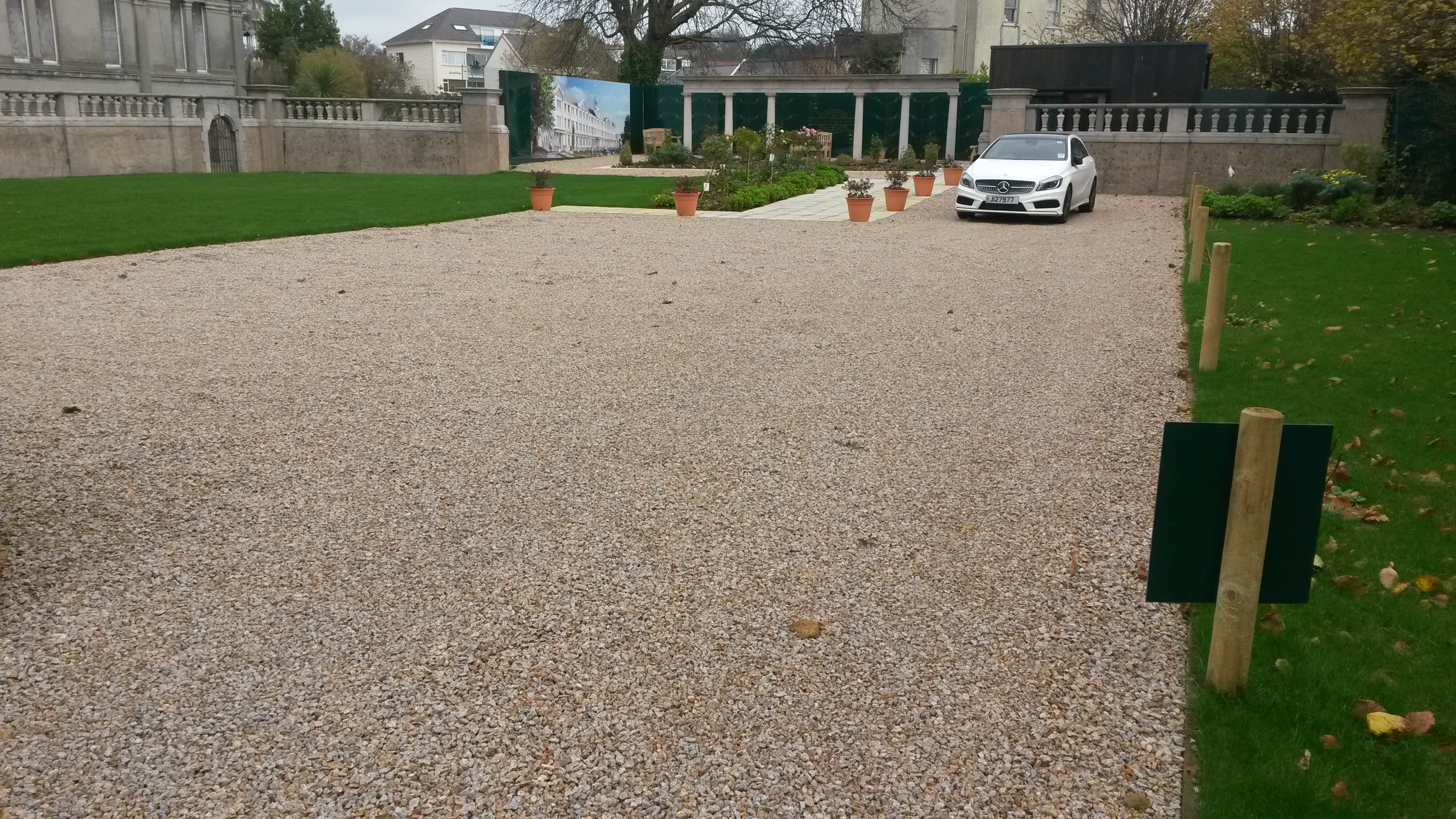InfraWeb TRP tree root protection system for vehicular access roads, parking areas etc