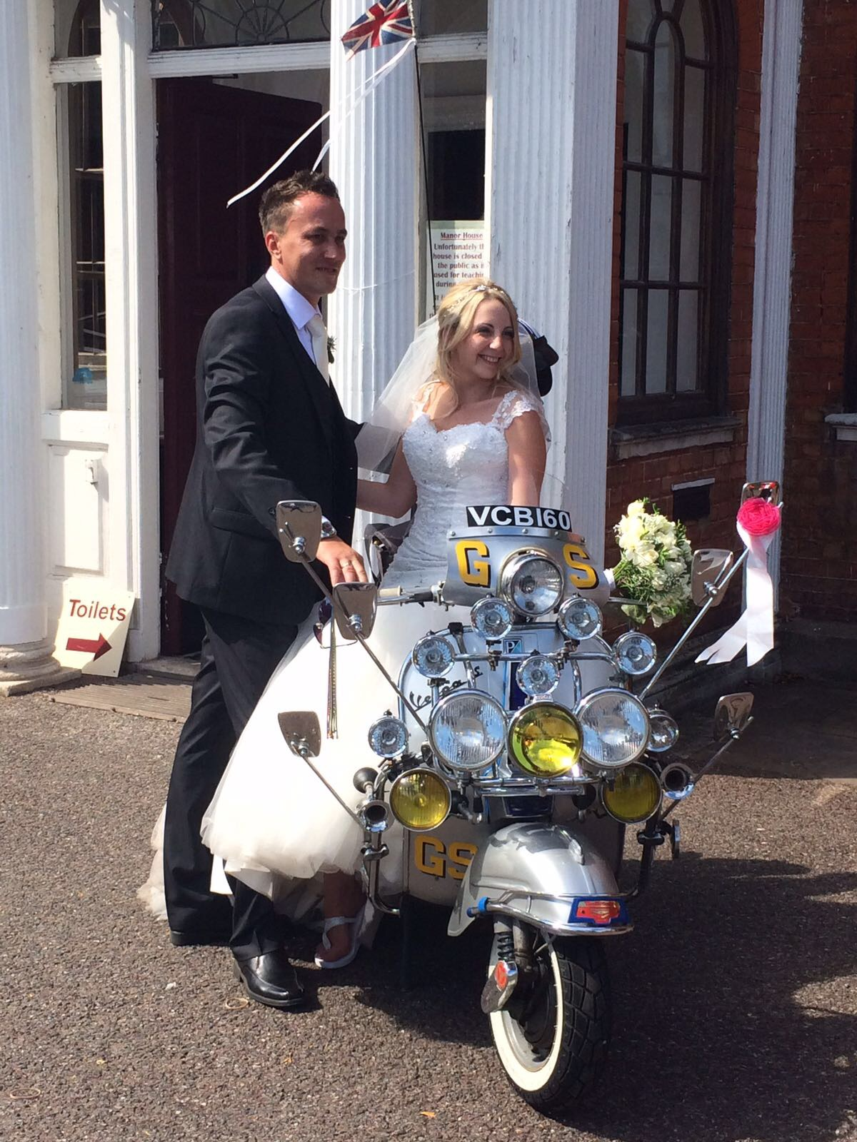 vintage bike wedding hire enfield