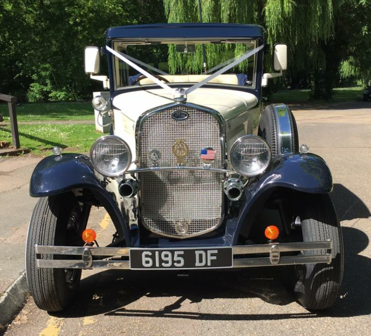 Ford Model A landulette hertfordshire wedding
