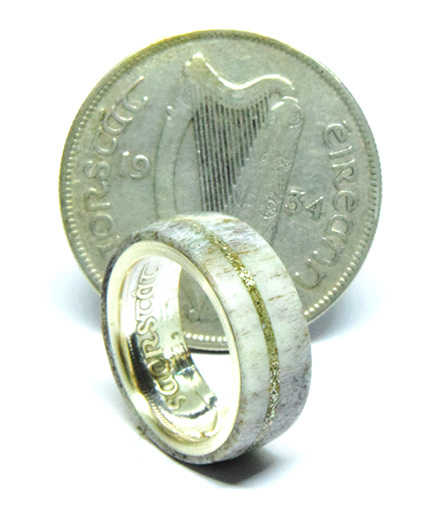 irish coin ringdeer antler wedding and engagement rings - Antler Wedding Rings