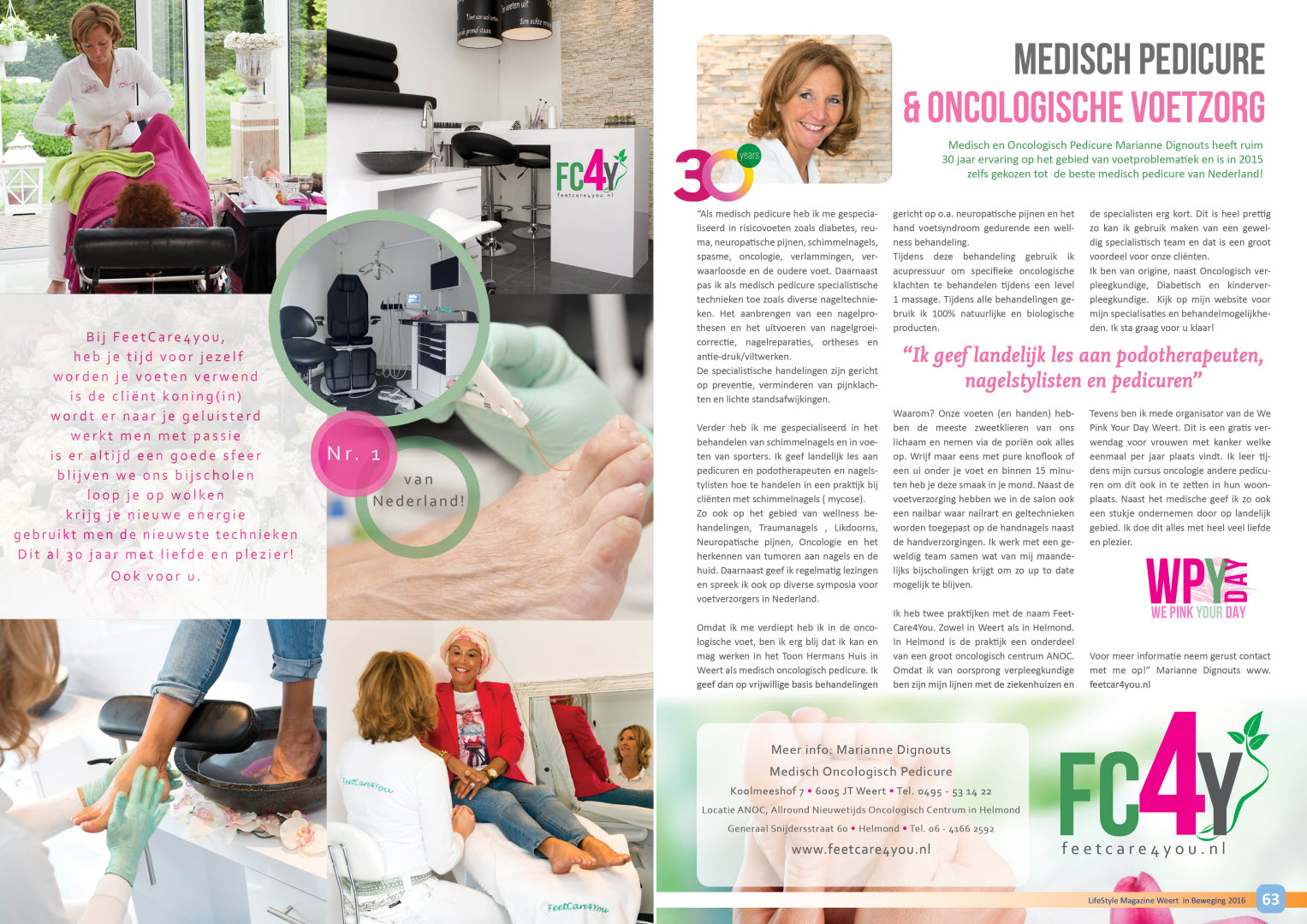 Interview FeetCare4You in de Lifestyle