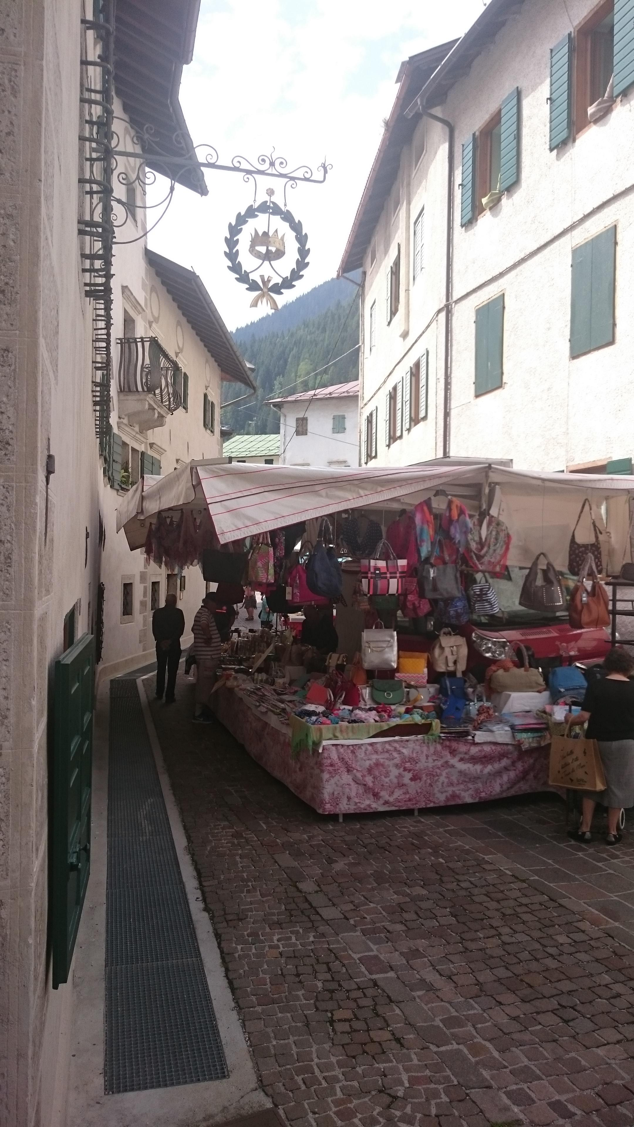 Market day in Caprile
