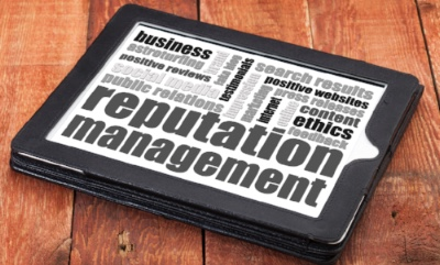 An image of a mobile device with the words reputation management written on it, showcasing the services offered by Lynden Consulting Ltd, a strategic marketing and communications company founded by Edna Petzen and works with health and social care companies to help them protect and manage their company reputation including crisis communications management