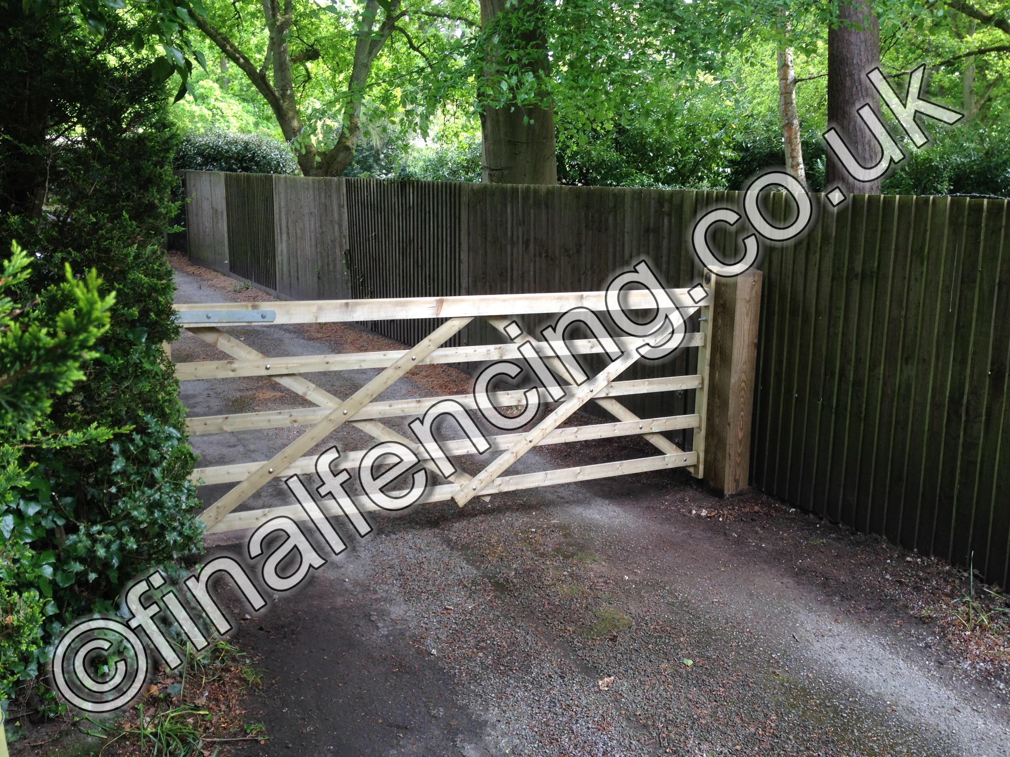 Timber Field Gates