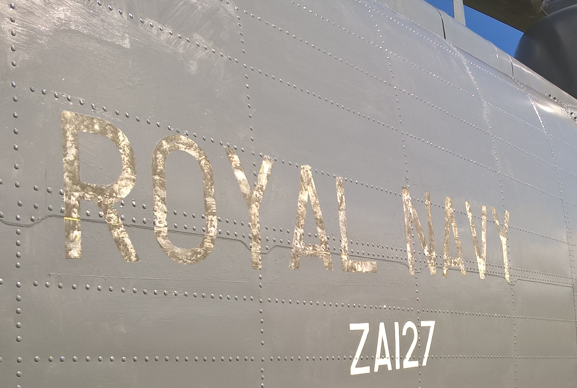 Royal Navy ZA127 Sea King Helicopter