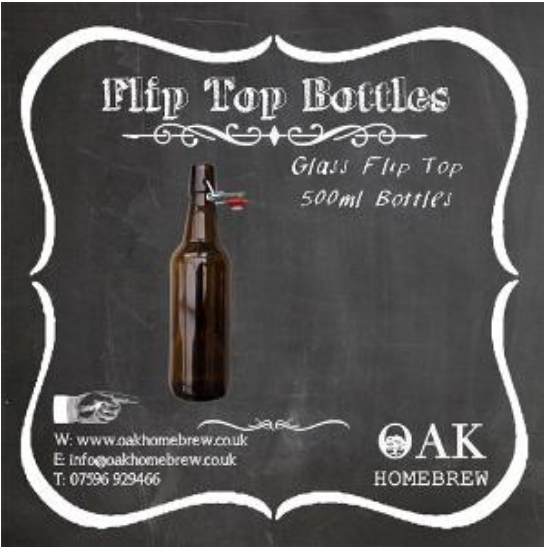Glass Flip Top Bottles pack of 12