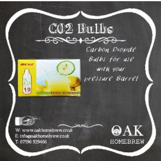 C02 Bulbs pack of 10