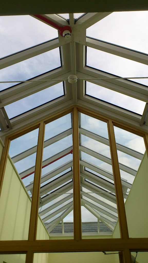 Interior and exterior skylight / roof light cleaning - Wulfstan Way, Cambridge.