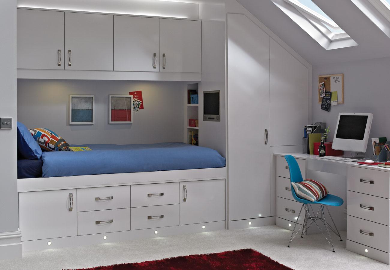 Casia White Space Saver Bedroom