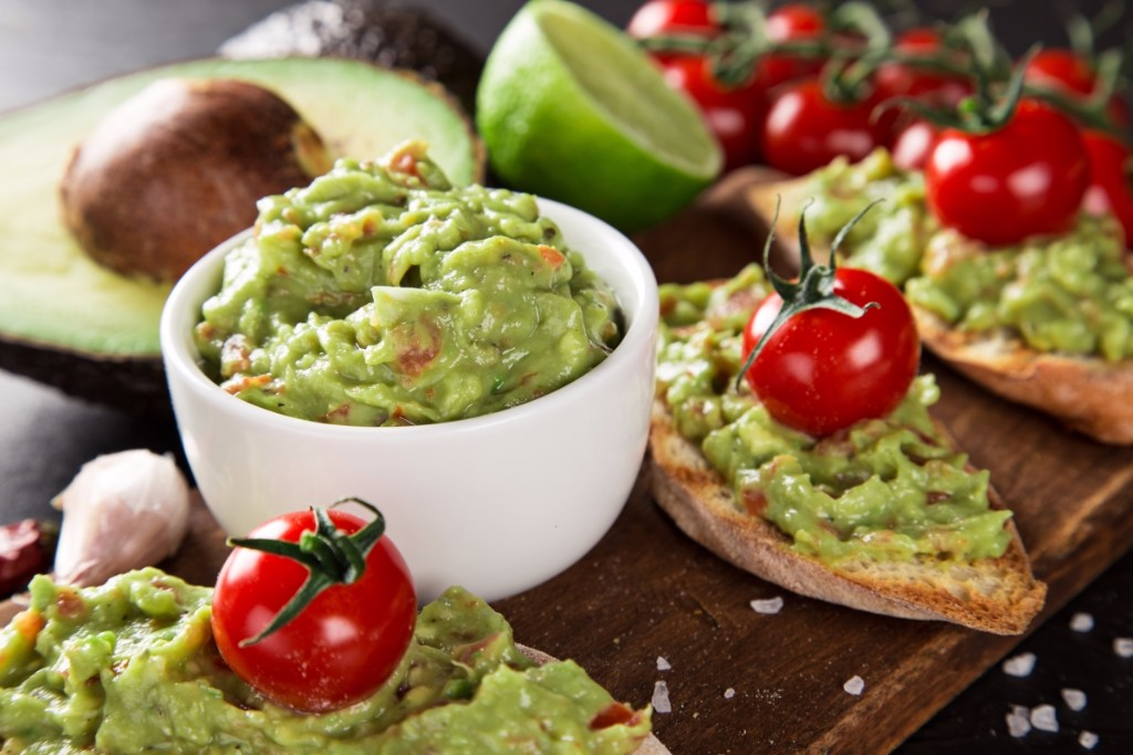 This fusion recipe provides a twist on the classic Italian guacamole.  The avocado is mashed together with hard-boiled eggs, freshly grated wasabi and other seasonings to be used as a dip.