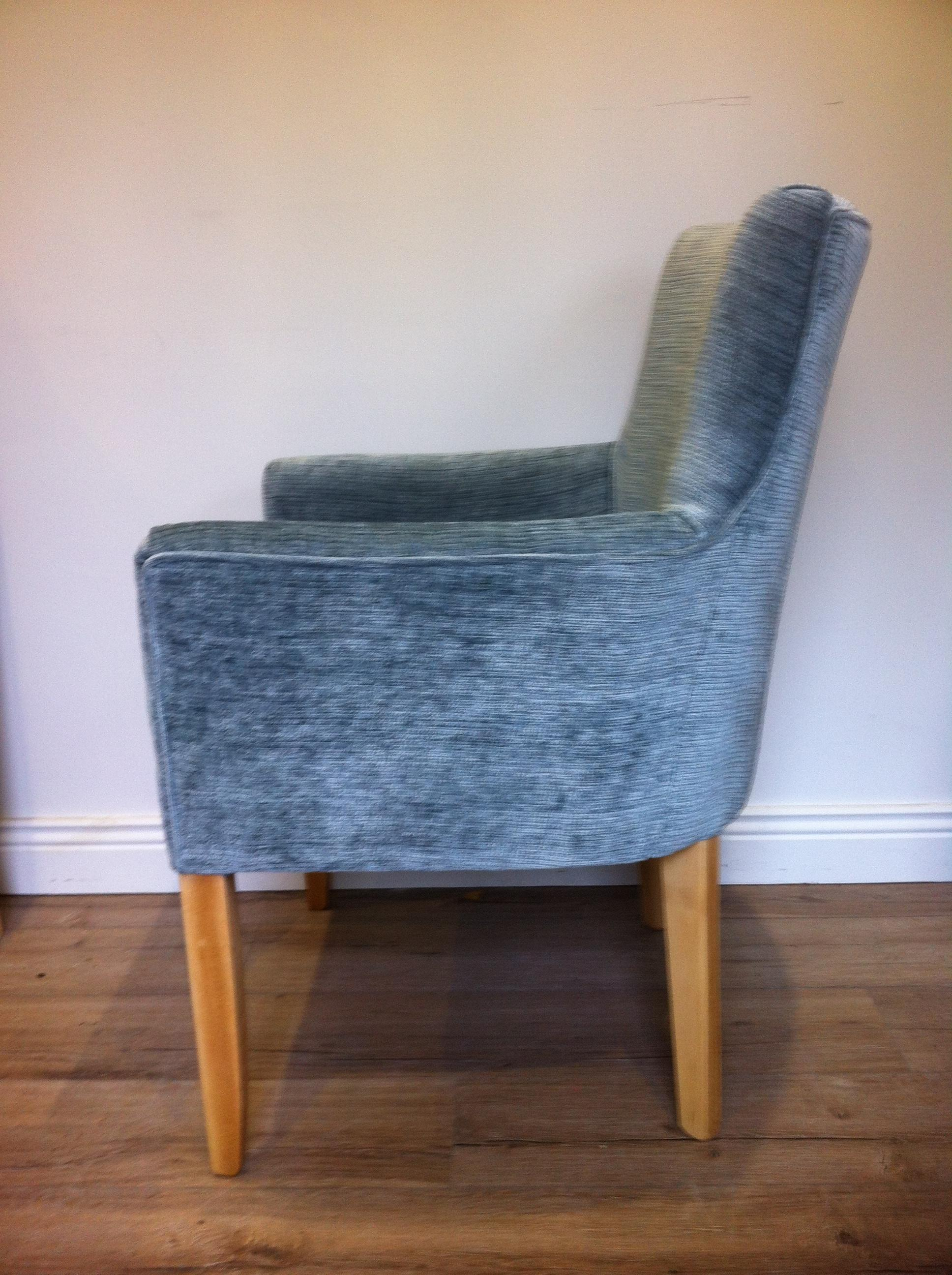 With a bespoke adjustment customer request for higher arms, (Fabric By Sanderson).