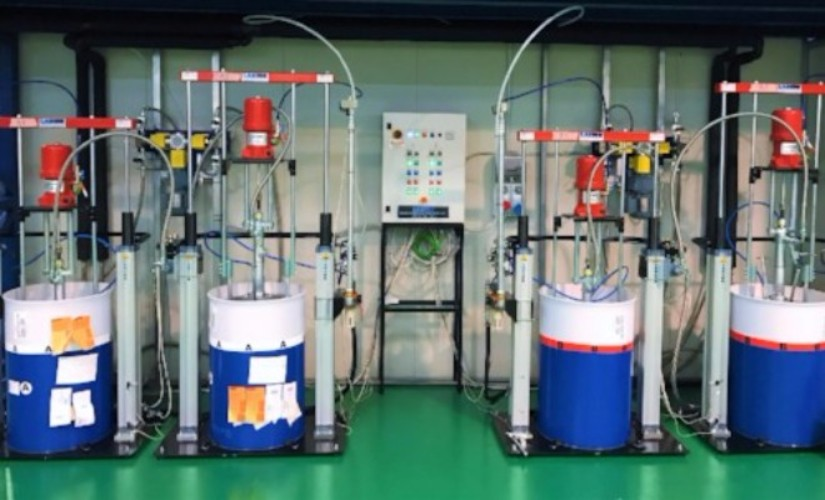 Fluid Transfer Station for Highly viscous products