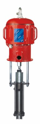 Pneumatic Piston Displacement Pump in either Steel or Stainless Steel