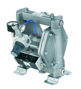 Pneumatic Double Diaphragm Pumps available in Aluminum or Stainless Steel