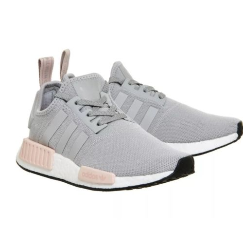 81c6537907c5a ADIDAS NMD Runner R1 Vapor Grey   Light Pink