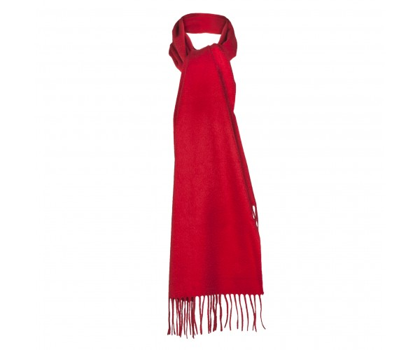100% Cashmere Scarf by Lona in Scarlet