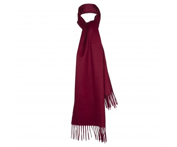100% Cashmere Scarf by Lona in Wine