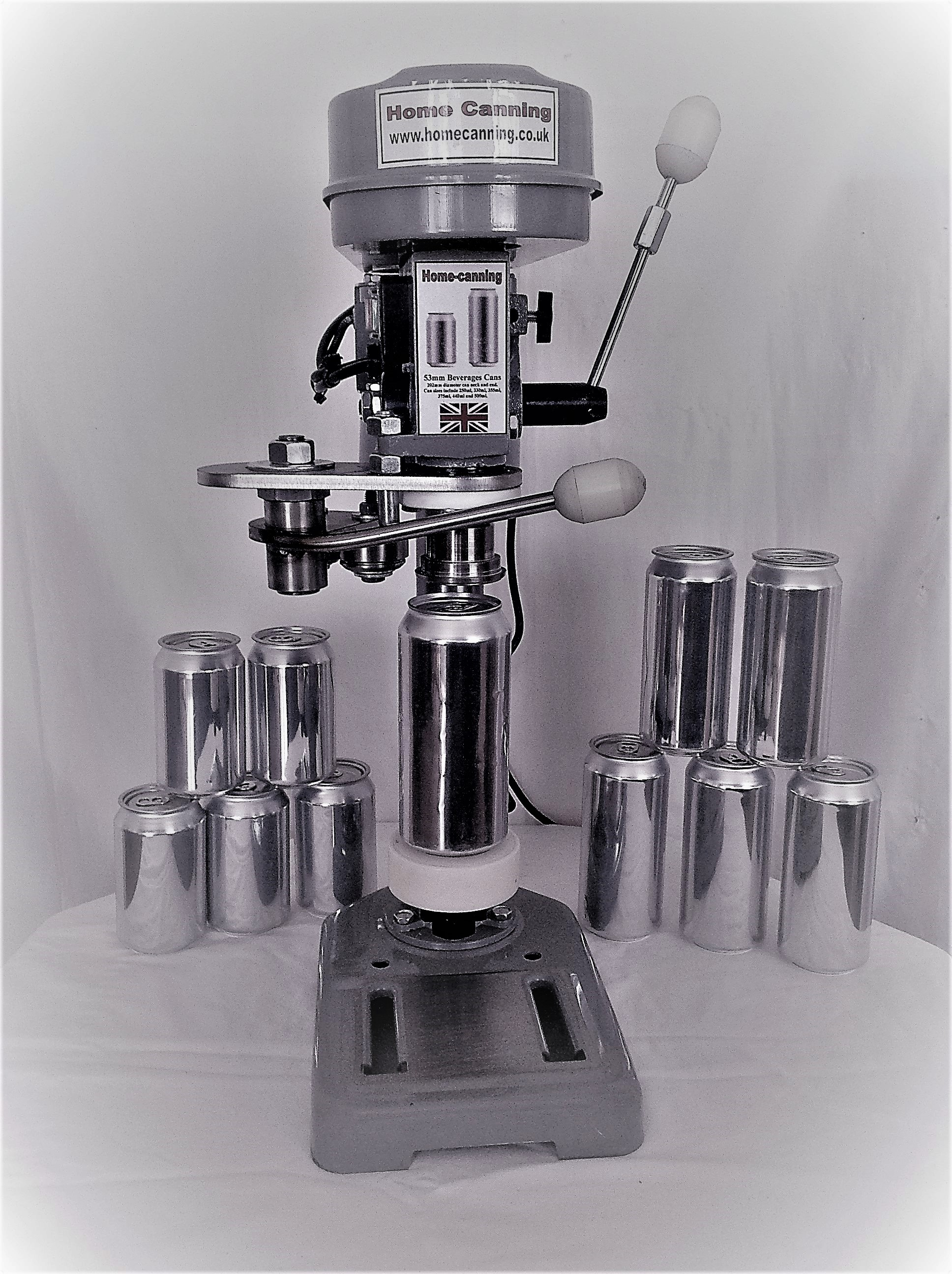 New Work-Top Electric Home Canning Machine. 53mm Diameter Beverage Can Sealer + 500 cans