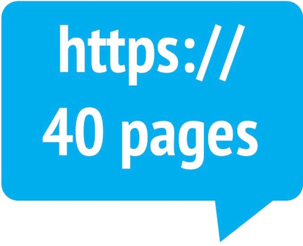 40-page website hosting