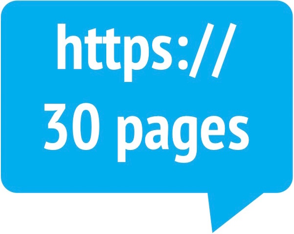 30-page website hosting