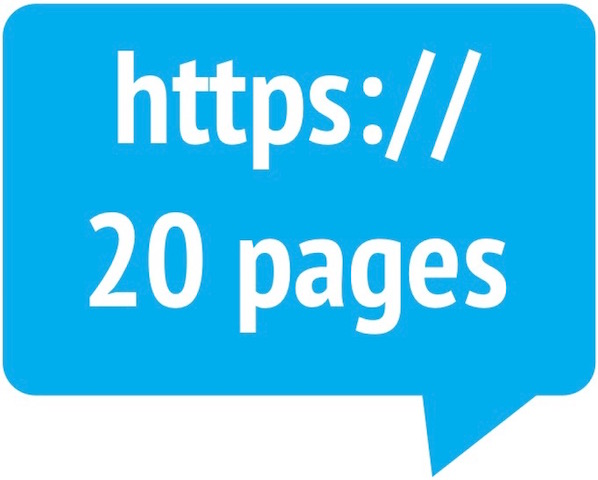 20-page website hosting