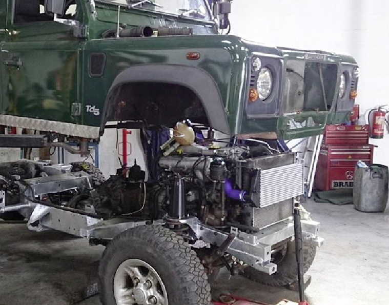 Land Rover rebuilds and new chassis at Gibsons Auto Services of Cumnock