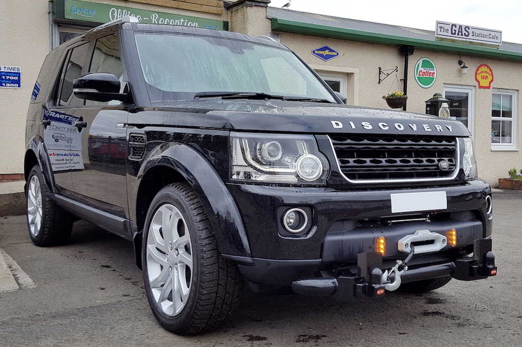 Land Rover Discovery winch fitting services ayrshire Gibsons Auto Services Cumnock Ayrshire