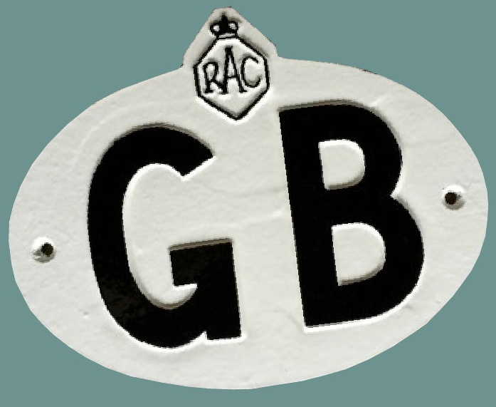 Old RAC GB plate