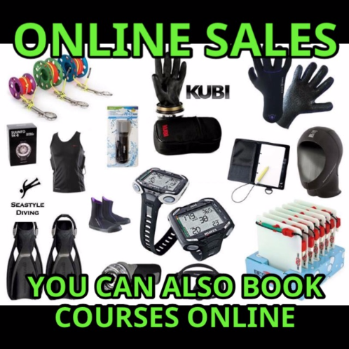Seastyle Diving's online shop for course booking and equipment sales
