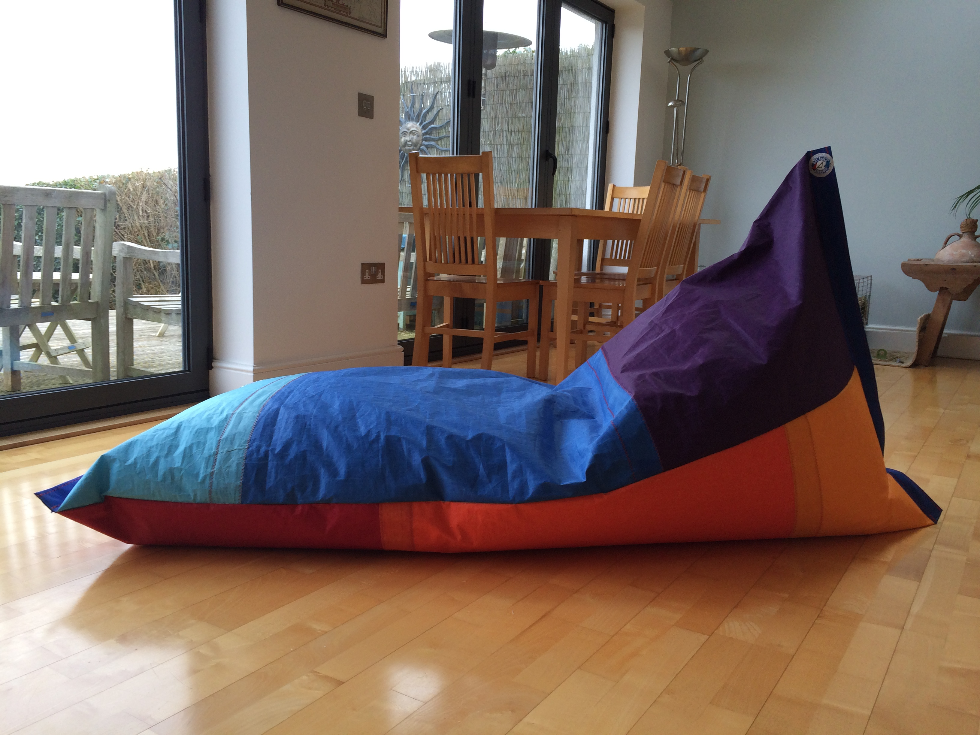 Excellent Sailcloth Beanbag Gmtry Best Dining Table And Chair Ideas Images Gmtryco