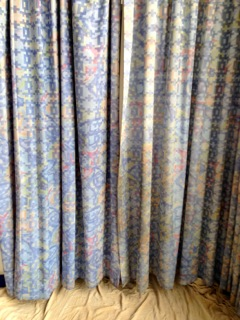 Curtains cleaned in a Primary School