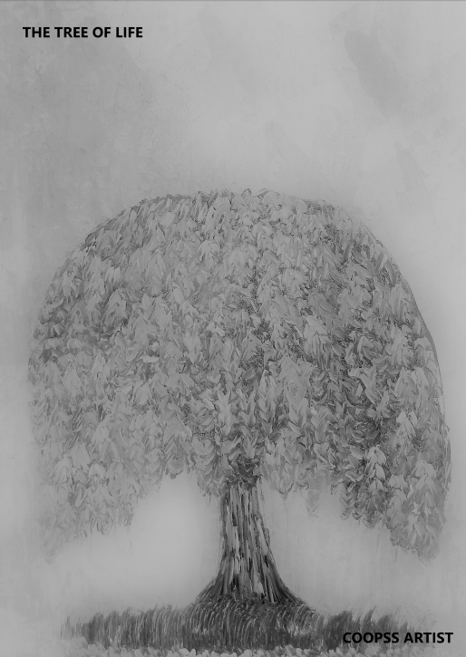 Black and White photography of Tree of live COOPSS